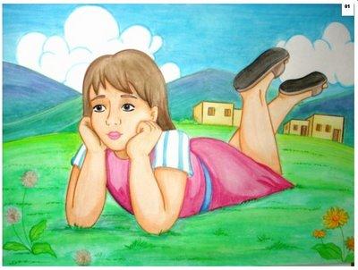 história bíblia ilustrada naamã é curado de lepra