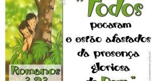 Verso ilustrado romanos 3:23 ministério infantil